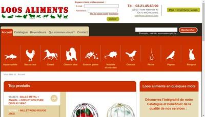 Site internet de Loos Aliments Brongniart et Fils SA