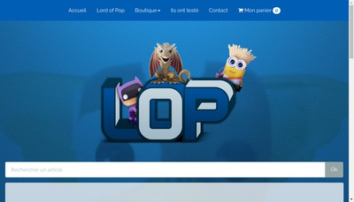 Site internet de Lord Of Pop