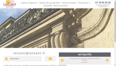 Site internet de Lot Cent