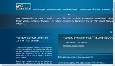 Site internet de Terraquitaine