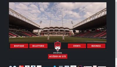 Site internet de Lyon Olympique Universitaire - Lou Rugby