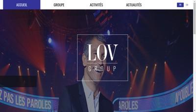 Site internet de Lov Group