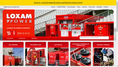Site internet de Loxam Power