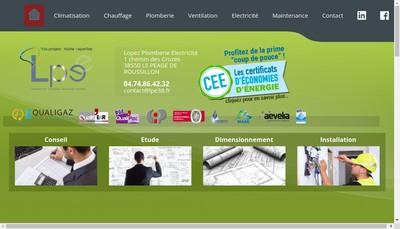 Site internet de Lopez Plomberie Electricite