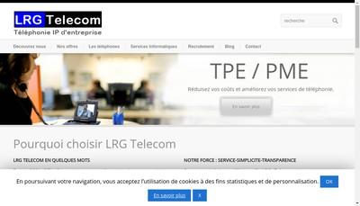 Site internet de Lrg Telecom