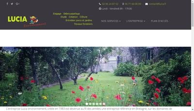 Site internet de Lucia Environnement