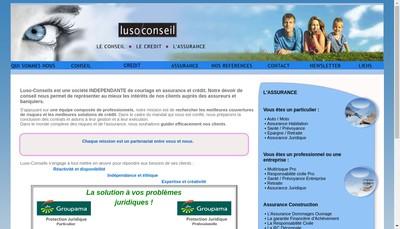 Site internet de Luso-Conseils