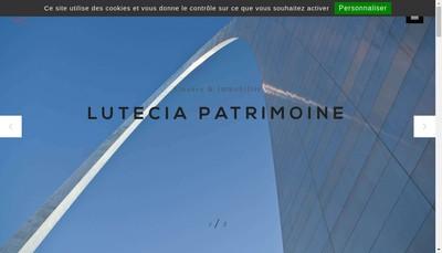 Site internet de Lutecia Patrimoine