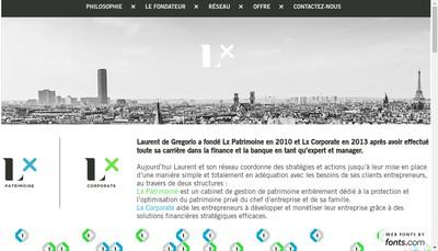 Site internet de Lx Patrimoine
