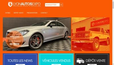 Site internet de Lyon Autos Expo