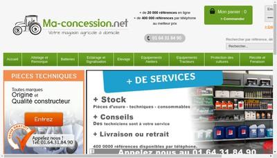 Site internet de Ma Concession Net
