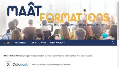 Site internet de Maat Formations