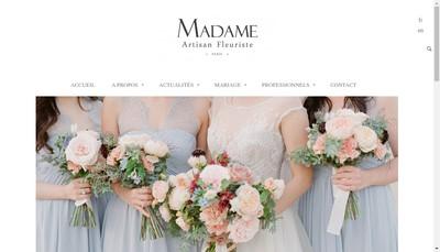 Site internet de Madame Artisan Fleuriste