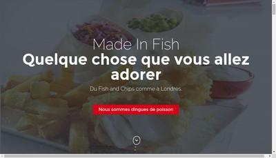 Site internet de Made In Fish