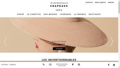 Site internet de Mademoiselle Chapeaux