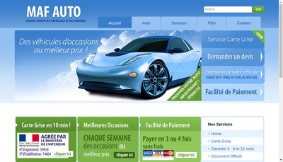 Site internet de Maf Auto