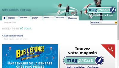 Site internet de Mag Presse