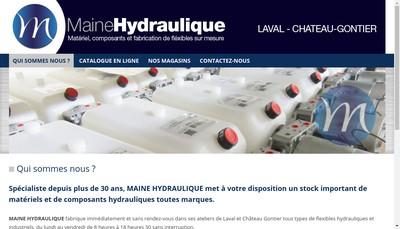 Site internet de Maine Hydraulique