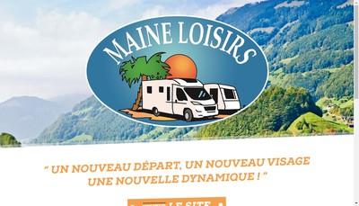 Site internet de Maine Loisirs Caravanes