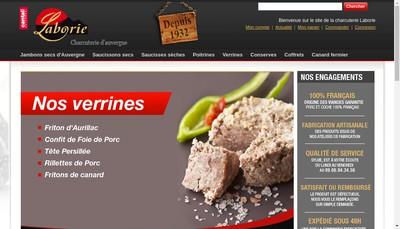 Site internet de Salaisons Laborie