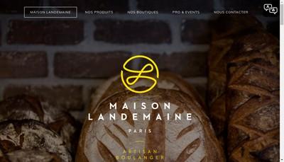 Site internet de Levain d'Antan-Maison Landemaine