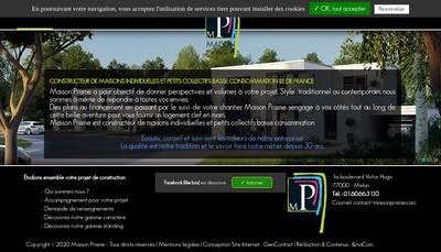 Site internet de Maison Prisme
