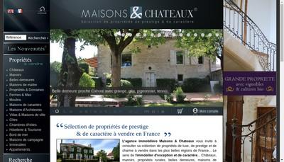 Site internet de Maisons et Chateaux