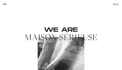 Site internet de Maison Serieuse