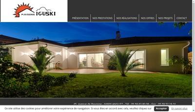 Site internet de Maisons Iguski