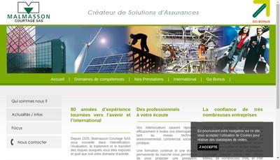 Site internet de Malmasson Courtage