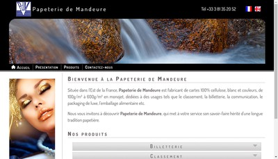 Site internet de Papeterie de Mandeure