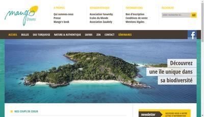 Site internet de SARL Mango Dreams Travel