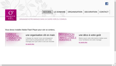 Site internet de O'Manoir du Thil