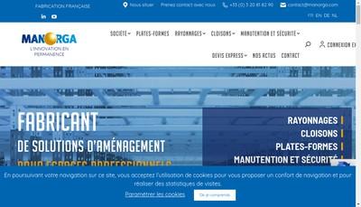 Site internet de Man-Orga-Manutention Organisation