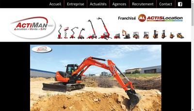 Site internet de Actiman Equipements & Services