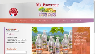 Site internet de Ma Provence