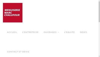 Site internet de Marc Chalufour Menuisier Escalieteur