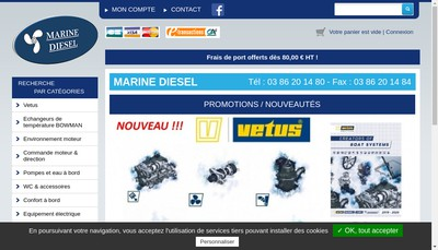 Site internet de Marine Diesel
