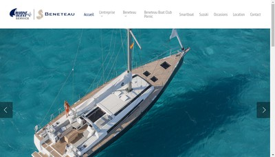 Site internet de Marine Ouest Service