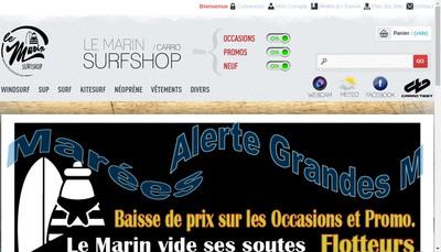 Site internet de Carro Surf Shop