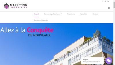 Site internet de Marketing Immobilier
