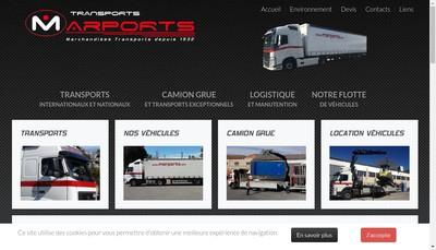 Site internet de Marports Marchandises Transports
