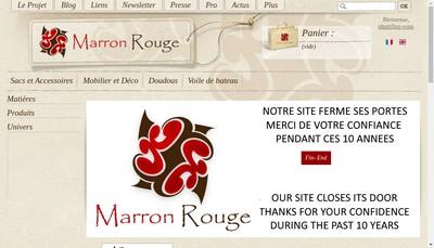 Site internet de Marron Rouge