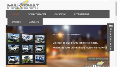 Site internet de Martenat Auvergne SAS