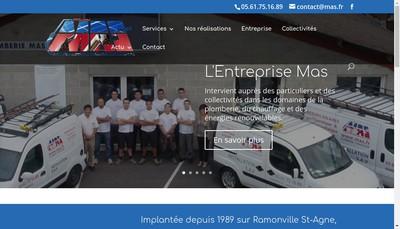 Site internet de Entreprise Mas