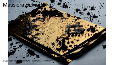 Site internet de Massiera Samadi