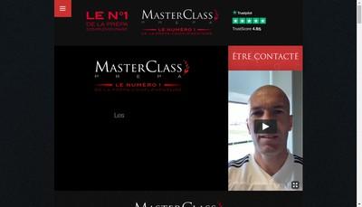 Site internet de Masterclass Prepa