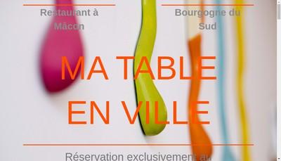 Site internet de Ma Table en Ville