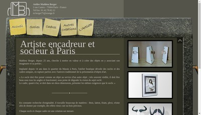 Site internet de Atelier Mathieu Berger