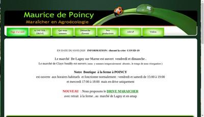 Site internet de GAEC Maurice de Poincy